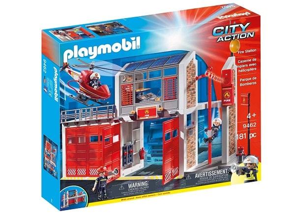 caserne de pompiers playmobil