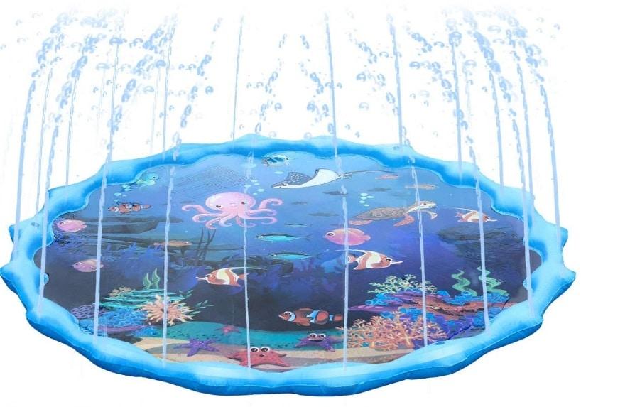 jeu pour enfant avec jets d'eau