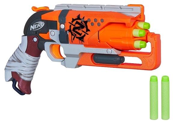 pistolet orange nerf zombie