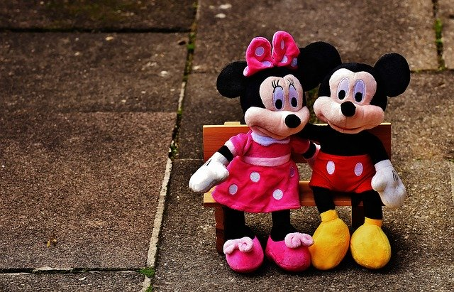 peluches mickey et minnie