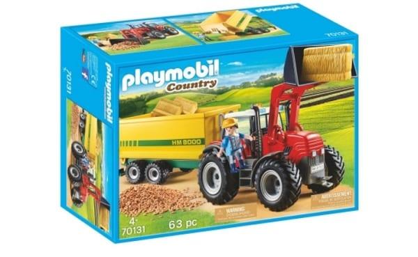 Grand tracteur avec remorque - Playmobil 70131